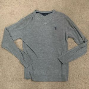 US Polo Gray Sweater